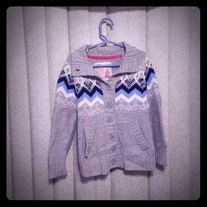 Girls' OshKosh Knitted Button Down Sweater
